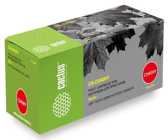 Тонер Картридж Cactus CS-C040HY желтый (10000 стр.) для Canon LBP 710CX, 712CX I-SensysЛазерные картриджи<br>Лазерный картридж Cactus CS-C040HY&amp;nbsp;<br><br>Предназначен для использования в принтерах Canon LBP 710CX I-SENSYS, 712CX&amp;nbsp;I-SENSYS<br><br>Цвет &amp;ndash; желтый<br><br>Используя картридж Cactus CS-C040HY&amp;nbsp;у Вас будет возможность распечатать около 10&amp;#39;000 информационных страниц (при 5% заполнении).<br><br>Гарантия на картридж Cactus CS-C040HY&amp;nbsp;предоставляется производителем, сроком на 12 месяцев с момента приобретения.&amp;nbsp;<br>