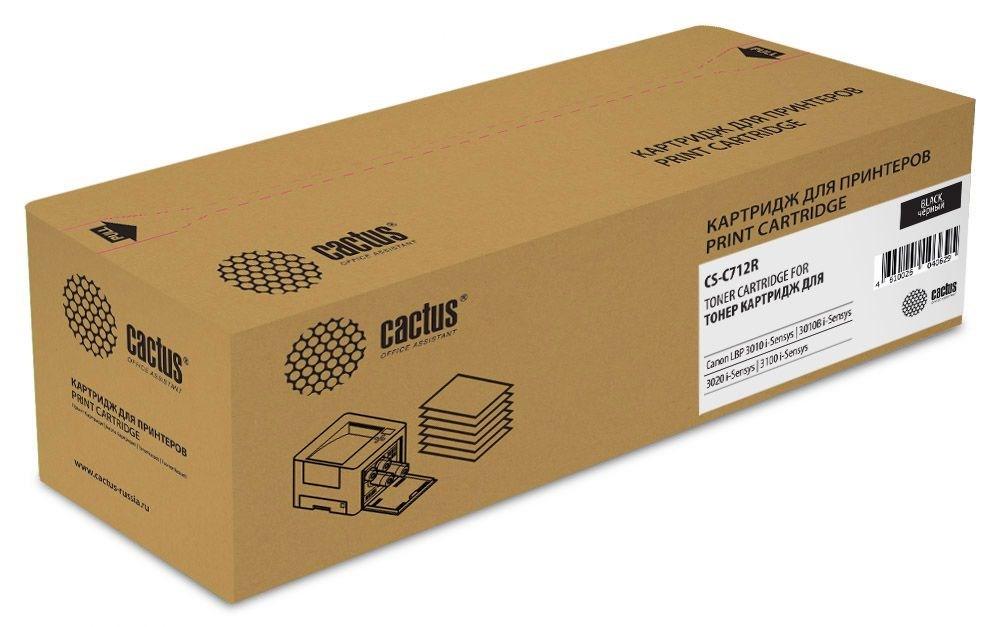 Лазерный картридж Cactus CS-C712R (Cartridge 712) черный для Canon LBP 3010 i-Sensys, 3010b i-Sensys, 3020 i-Sensys, 3100 i-Sensys (1'500 стр.) фото