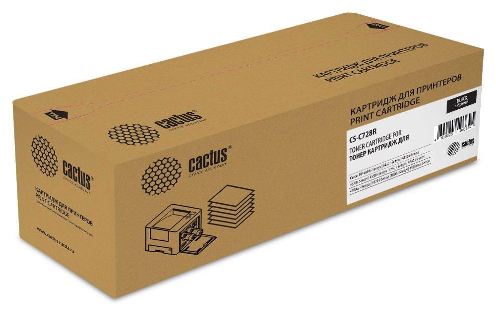 Лазерный картридж  Cactus CS-C728R (728 Bk) черный для Canon Fax L150, L170, L410; Canon MF 4410, 4430, 4450, 4550, 4550d, 4570, 4570dn, 4580, 4580dn, 4730, 4750, 4780w, 4870, 4870dn, 4890, 4890dw (2100 стр.)Лазерные картриджи<br><br><br>Лазерный картридж Cactus CS-C728R<br><br>Предназначен для использования в принтерах Canon Fax L150, L170, L410; Canon MF 4410, 4430, 4450, 4550, 4550d, 4570, 4570dn, 4580, 4580dn, 4730, 4750, 4780w, 4870, 4870dn, 4890, 4890dw<br><br>Цвет &amp;ndash; черный<br><br>Используя картридж Cactus CS-C728R у Вас будет возможность распечатать около 2&amp;#39;100 информационных страниц (при 5% заполнении).<br><br>Гарантия на картридж Cactus CS-C728R предоставляется производителем, сроком на 12 месяцев с момента приобретения.&amp;nbsp;<br><br><br>