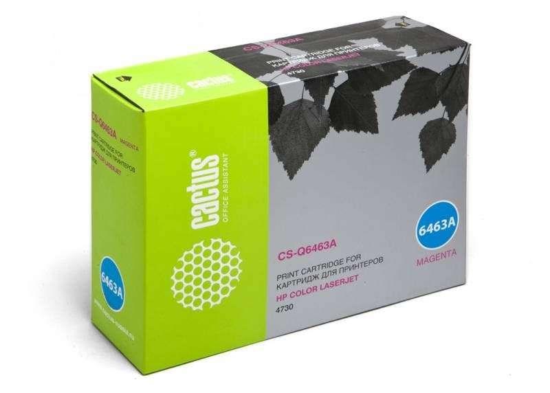 Лазерный картридж Cactus CS-Q6463AR (HP 644A) пурпурный для HP Color LaserJet 4730, 4730MFP, 4730X MFP, 4730XM MFP, 4730XS MFP, CM4730, CM4730F, CM4730FM, CM4730FSK, CM4730 MFP, CM4753 MFP (12000 стр.)Лазерные картриджи для HP<br>Лазерный картридж Cactus CS-Q6463ARnbsp;<br><br>Предназначен для использования в принтерах HP Color LaserJet 4730, 4730MFP, 4730X MFP, 4730XM MFP, 4730XS MFP, CM4730, CM4730F, CM4730FM, CM4730FSK, CM4730 MFP, CM4753 MFPnbsp;<br><br>Страна производства - Россия<br><br>Цвет ndash; пурпурный<br><br>Используя картридж Cactus CS-Q6463AR у Вас будет возможность распечатать около 12#39;000 информационных страниц (при 5% заполнении).<br><br>Гарантия на картридж Cactus CS-Q6463AR предоставляется производителем, сроком на 12 месяцев с момента приобретения.
