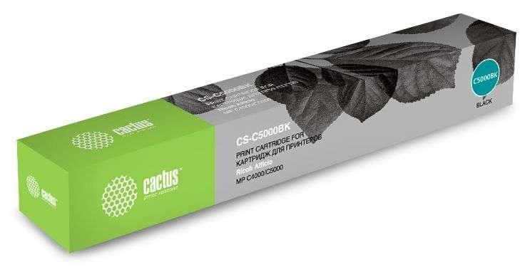 Лазерный картридж cactus cs-c5000bk (841160) черный для ricoh aficio mp c4000, mp c5000 (23000 стр.)