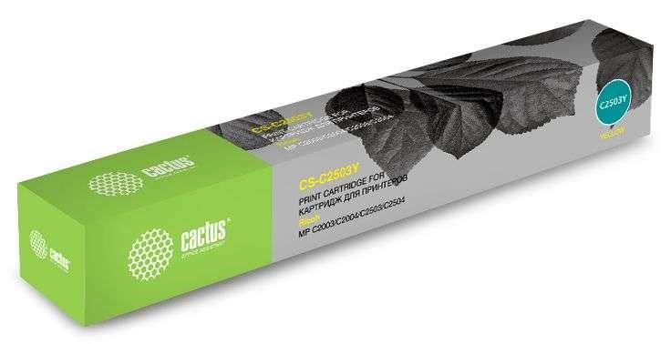 Лазерный картридж Cactus CS-C2503Y (MP C2503) желтый для Ricoh Aficio MP C2003SP, MP C2003ZSP, MP C2004ASP, MP C2004SP, MP C2011SP, MP C2503SP, MP C2503ZSP, MP C2504ASP, MP C2504SP (9'500 стр.) фото