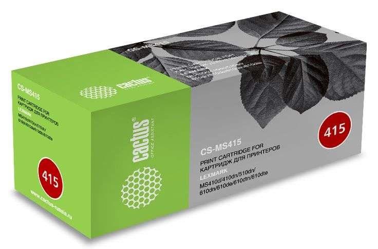 Лазерный картридж Cactus CS-MS415 (50F5U00) черный для Lexmark MS 410d, 410dn, 510dn, 610dn, 610de, 610dtn, 610dte (10'000 стр.) фото