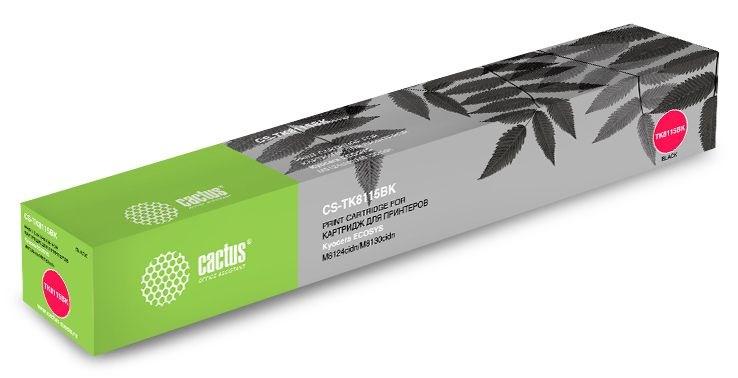 Лазерный картридж Cactus CS-TK8115BK (Mita TK-8115K) черный для Kyocera Mita Ecosys M8124cidn, M8130cidn (12'000 стр)