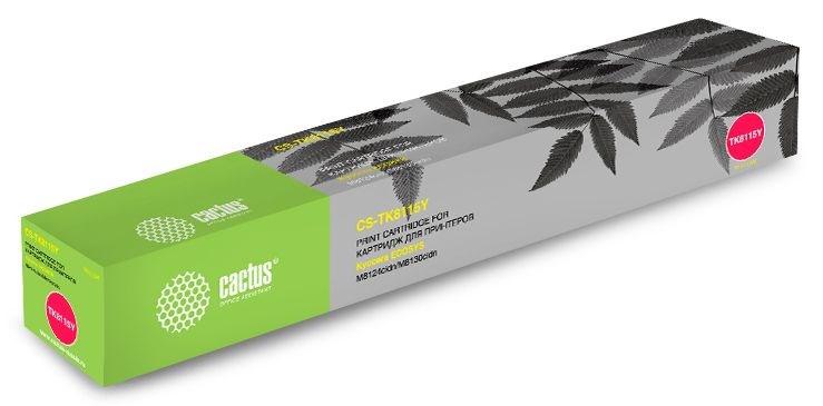 Лазерный картридж Cactus CS-TK8115Y (Mita TK-8115Y) желтый для Kyocera Mita Ecosys M8124cidn, M8130cidn (6'000 стр)