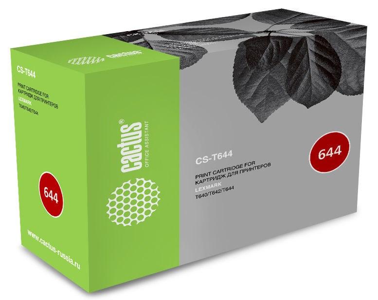 Лазерный Картридж Cactus CS-T644 (64016HE, 64036SE) черный увеличенной емкости для Lexmark Optra T640, T640DN, T640DTN, T640N, T640TN, T642, T642DN, T642DTN, T642N, T642TN, T644, T644DN, T644DTN, T644N (21'000 стр)