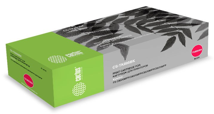 Лазерный картридж Cactus CS-TK895BK (Mita TK-895K) черный для Kyocera Mita FS C8020, C8020MFP, C8025, C8520, C8520MFP, C8525, C8525MFP (12'000 стр)
