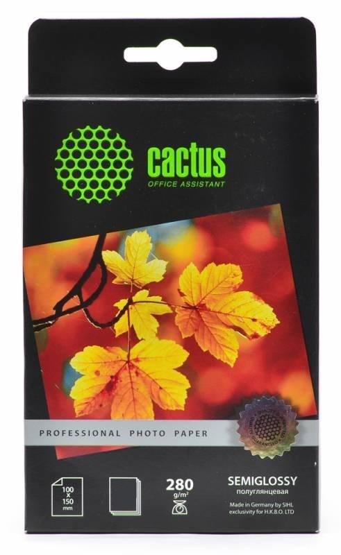 Фотобумага полуглянцевая Cactus Prof CS-KSGA6280100 10x15, 280г/м2, 100л.