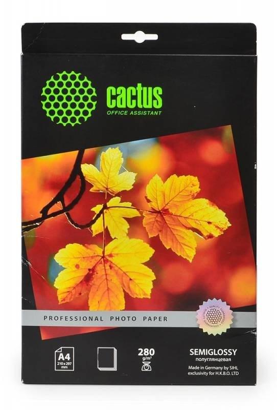 Фотобумага полуглянцевая Cactus Prof CS-KSGA4280200 A4, 280г/м2, 200л.