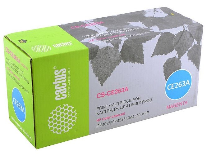 Лазерный картридж Cactus CS-CE263AR (HP 648A) пурпурный для HP Color LaserJet CP4020 Enterprise, CP4025 Enterprise, CP4025dn, CP4025n, CP4520 Enterprise, CP4525 Enterprise, CP4525dn, CP4525n, CP4525xh (11000 стр.)все товары cactus-trade<br>Лазерный картридж Cactus CS-CE263AR<br><br>Предназначен для использования в принтерах HP Color LaserJet CP4020 Enterprise, CP4025 Enterprise, CP4025dn, CP4025n, CP4520 Enterprise, CP4525 Enterprise, CP4525dn, CP4525n, CP4525xhnbsp;<br><br>Страна производства - Россия<br><br>Цвет ndash; пурпурный<br><br>Используя картридж Cactus CS-CE263AR у Вас будет возможность распечатать около 11#39;000 информационных страниц (при 5% заполнении).<br><br>Гарантия на картридж Cactus CS-CE263AR предоставляется производителем, сроком на 12 месяцев с момента приобретения.