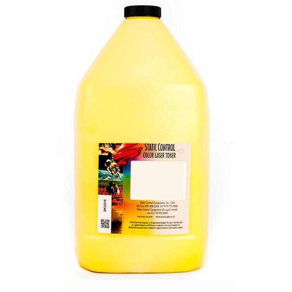 Тонер Static Control KYUNIV-1KG-Y желтый для принтера Kyocera FSC5100DN, TA250ci (флакон 1000 гр.)Тонер Static Control<br>