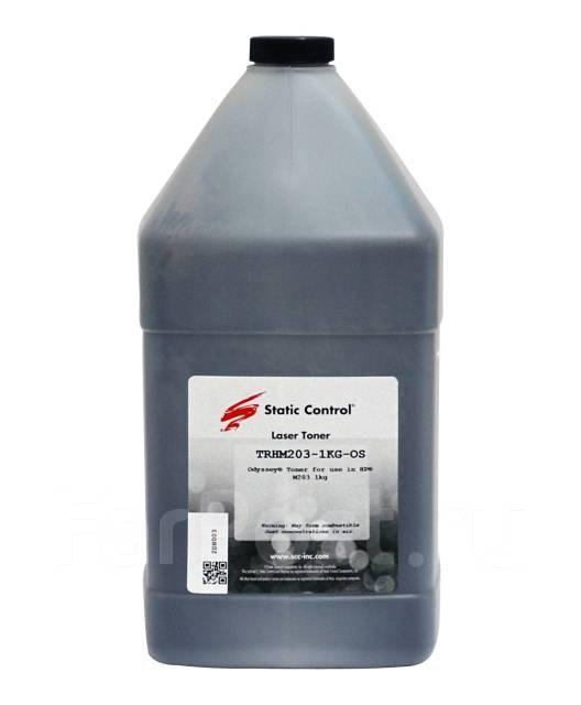 Тонер static control trhm203-1kg-os черный для принтера hp