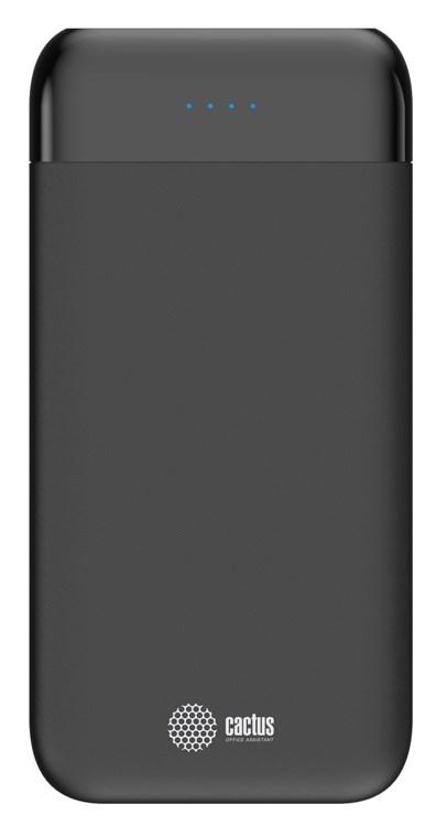 Мобильный аккумулятор Cactus CS-PBFSFL-10000 Li-Pol 10000mAh 1A+2.4A графит 2xUSBМелкая электроника<br>Материал корпуса: Пластик<br>Цвет корпуса: графит<br>Емкость: 10 000 mAh<br>Размеры (мм): 146x72x15.5<br>Вид батареи: Li-Polymer<br>Вес: 230г<br>Выходы:<br>- USB 1: 2.4A<br>- USB 2: 2A