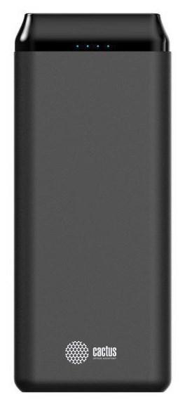 Мобильный аккумулятор Cactus CS-PBFSST-20000 Li-Pol 20000mAh 2A+2.4A графит 2xUSB фото
