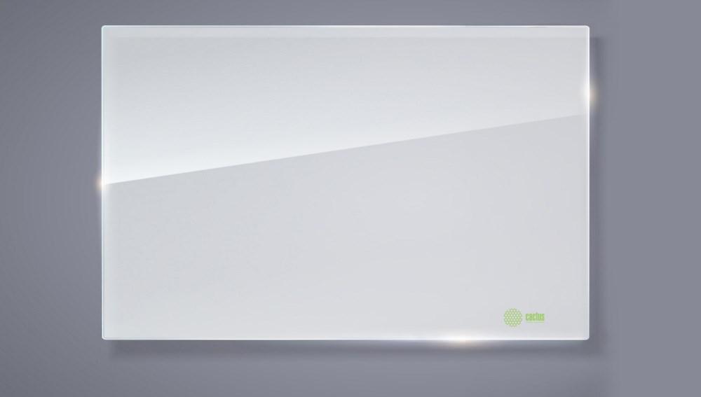 Демонстрационная доска Cactus CS-GBD-65x100-WT (65x100 см.) магнитно-маркерная, стеклянная, белая фото