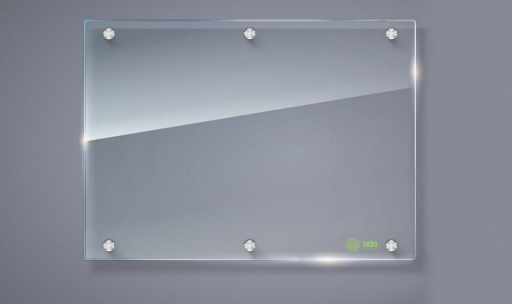 Демонстрационная доска Cactus CS-GBD-90x120-TR (90x120 см.) маркерная, стеклянная, прозрачная фото