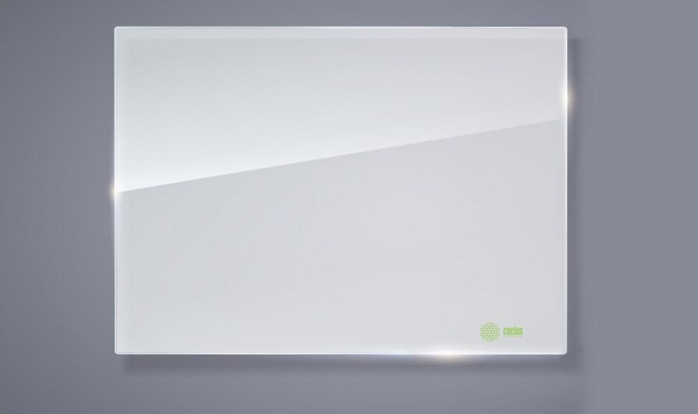 Демонстрационная доска Cactus CS-GBD-90x120-WT (90x120 см.) магнитно-маркерная, стеклянная, белая фото