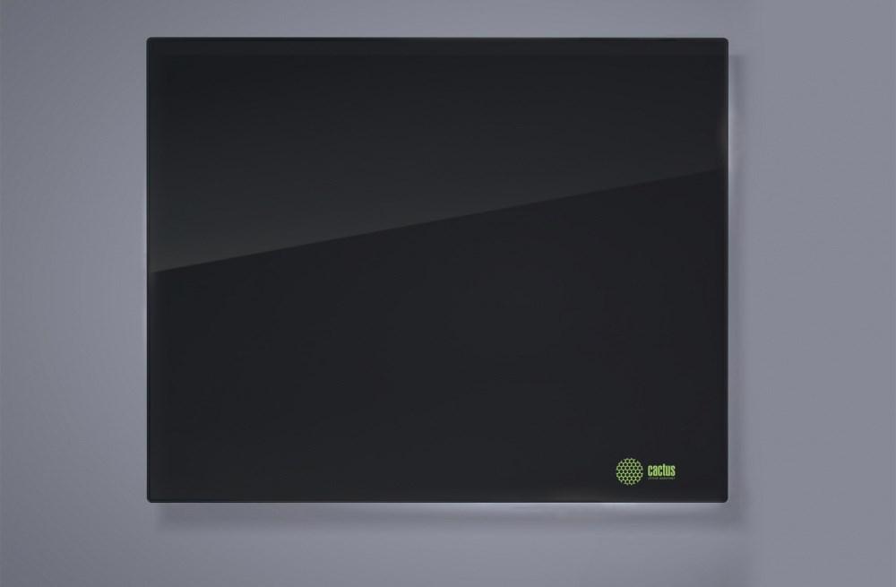 Демонстрационная доска Cactus CS-GBD-120x150-BK (120x150 см.) магнитно-маркерная, стеклянная, черная фото