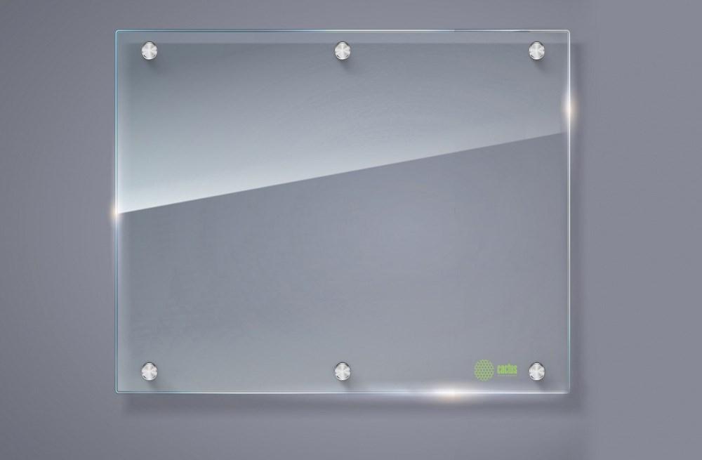 Демонстрационная доска Cactus CS-GBD-120x150-TR (120x150 см.) маркерная, стеклянная, прозрачная фото