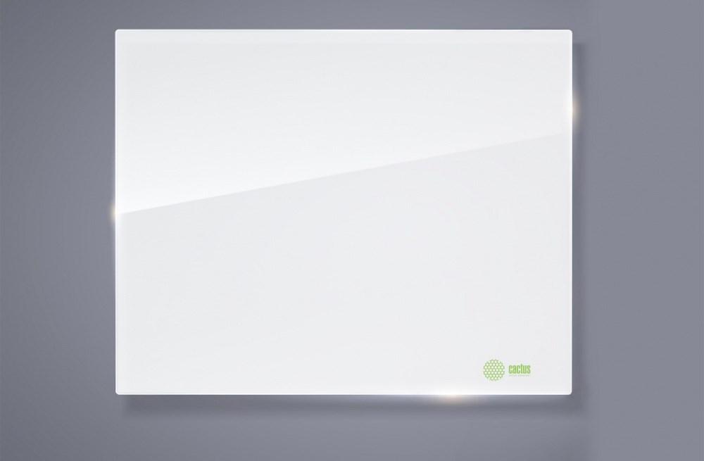 Демонстрационная доска Cactus CS-GBD-120x150-UWT (120x150 см.) магнитно-маркерная, стеклянная, ультра белая фото