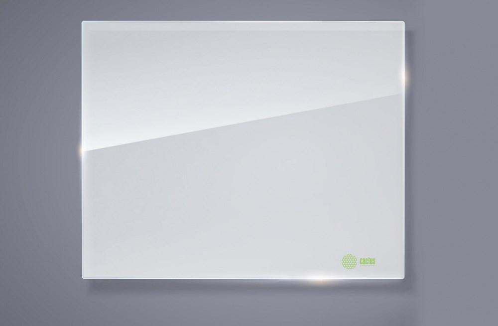Демонстрационная доска Cactus CS-GBD-120x150-WT (120x150 см.) магнитно-маркерная, стеклянная, белая фото