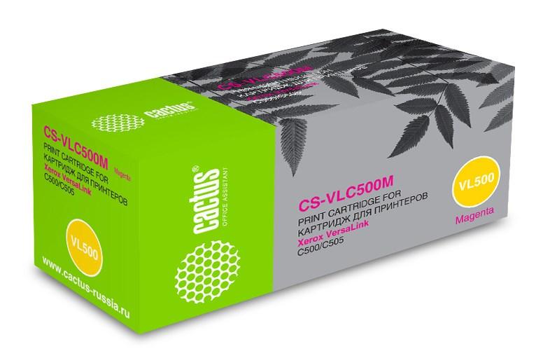 Лазерный картридж Cactus CS-VLC500M (106R03878) пурпурный для Xerox VersaLink C500, C500DN, C500N, C505, C505S, C505X (2'400 стр.) фото