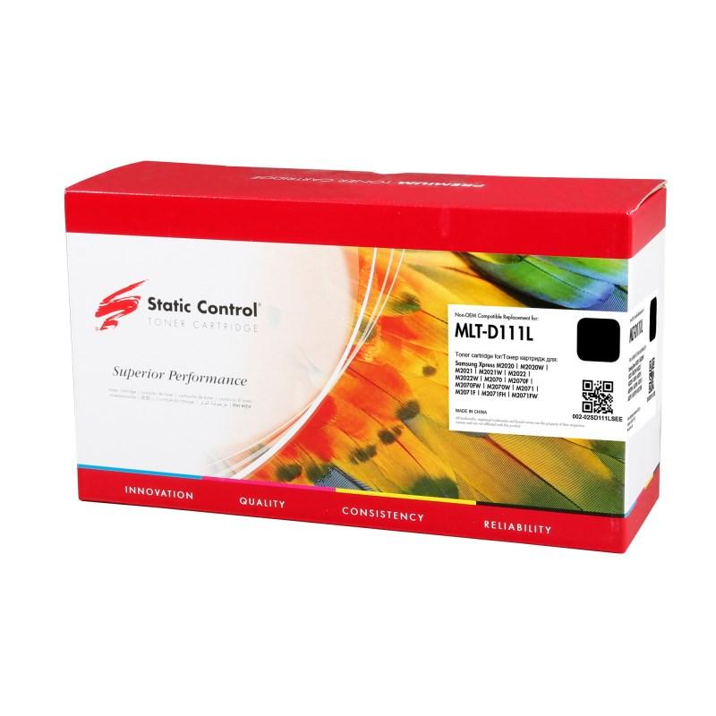 Лазерный картридж Static Control 002-02SD111LSEE (MLT-D111L) черный для Samsung Xpress M2020, M2020W, M2021, M2021W, M2022, M2022W, M2070, M2070F, M2070FW, M2070W, M2071, M2071F, M2071FH, M2071FW (1'800 стр.) фото