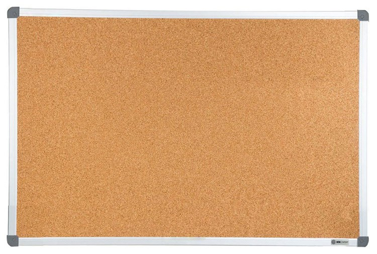 Демонстрационная доска Cactus CS-CBD-120X150 (120x150 см.) пробковая, алюминиевая рама фото