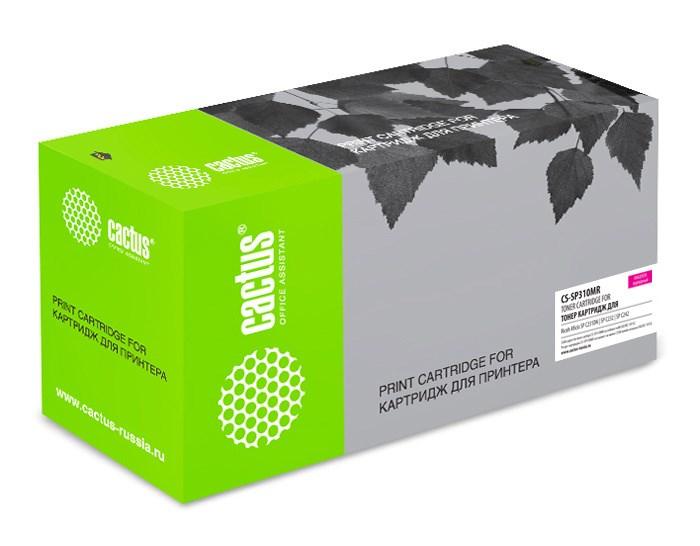 Лазерный картридж Cactus CS-SP310MR (SP C310E) пурпурный для Ricoh Aficio SP C231N, C231SF, C232DN, C232SF, C242DN, C242SF, C320DN (2'500 стр.) фото