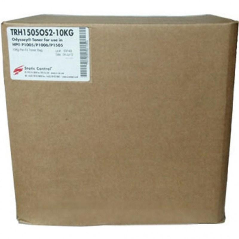 Тонер Static Control TRH1505-10KG черный (флакон 10'000 гр.) для принтера HP LaserJet P1005, 1006, 1505 фото