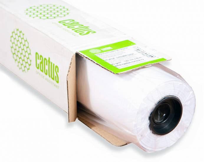 Бумага Cactus Eco CS-LFP80-410457E 410мм-45.7м, 80г/м2, белый втулка: 50.8 мм (2