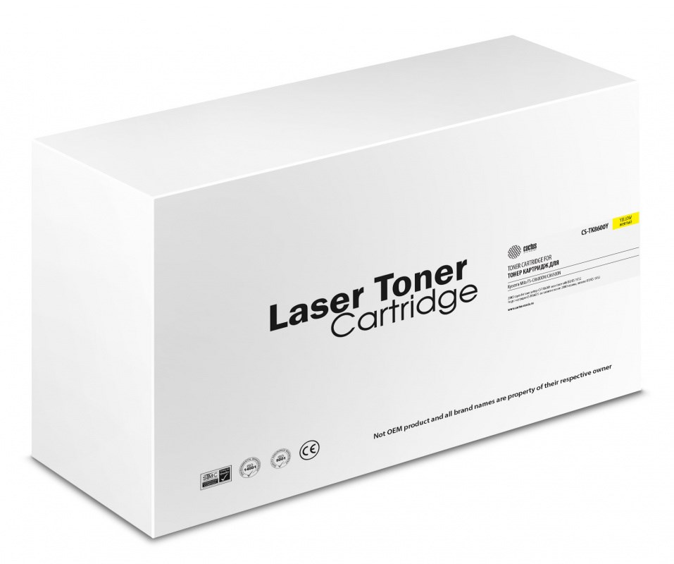 Лазерный картридж Cactus CS-TK8600Y (TK-8600Y) желтый для Kyocera Mita FS-C8600dn, C8650dn (20'000 стр.) фото