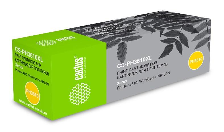 Лазерный картридж Cactus CS-PH3610XL (106R02732) черный увеличенной емкости для Xerox Ph 3610, WC 3615dn (25'300 стр.) фото
