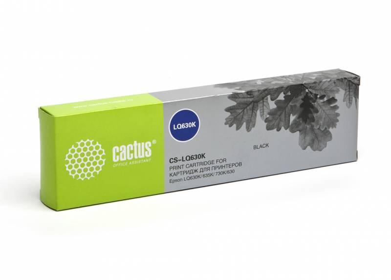 Матричные картриджи cactus cs-lq630 черный для