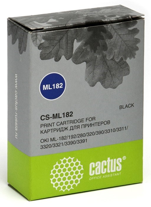 Матричные картриджи Cactus CS-ML182 черный для Oki ML-182, 192, 280, 320, 390Матричные картриджи<br><br>
