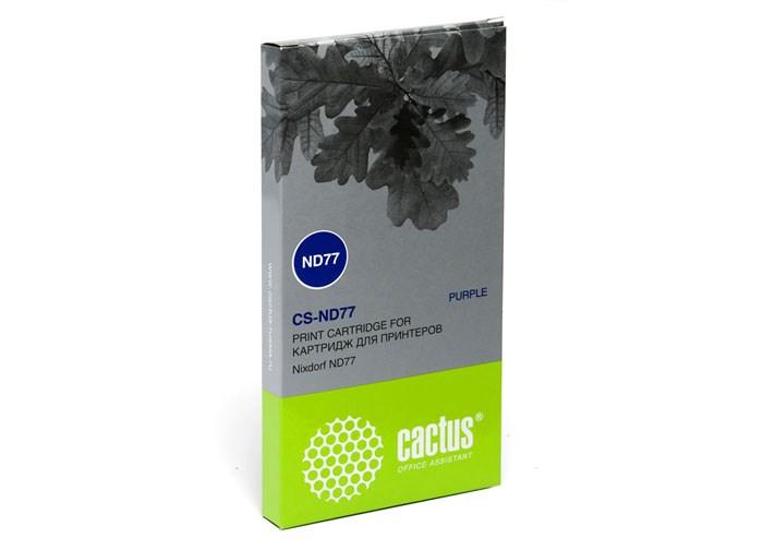 Матричные картриджи Cactus CS-ND77 пурпурный для Nixdorf ND77Матричные картриджи<br><br>