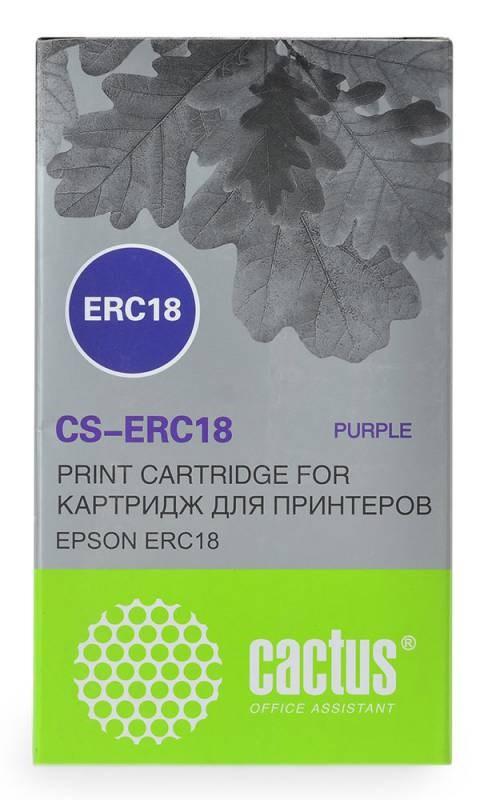 Матричные картриджи Cactus CS-ERC18 фиолетовый для Epson ERC 18, ER4615-RМатричные картриджи<br>