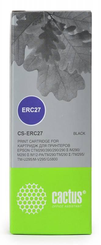Матричные картриджи cactus cs-erc27 черный для epson erc