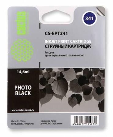 Струйный картридж Cactus CS-EPT341 (T0341) черный для принтеров Epson Stylus Photo 2100, 2200 (14,6 мл.) фото