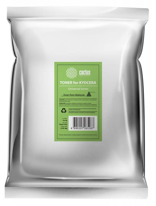 Тонер Cactus CS-TKY-10kg черный (пакет 10'000 гр.) для принтера Kyocera Universal toner (TK100) 282233