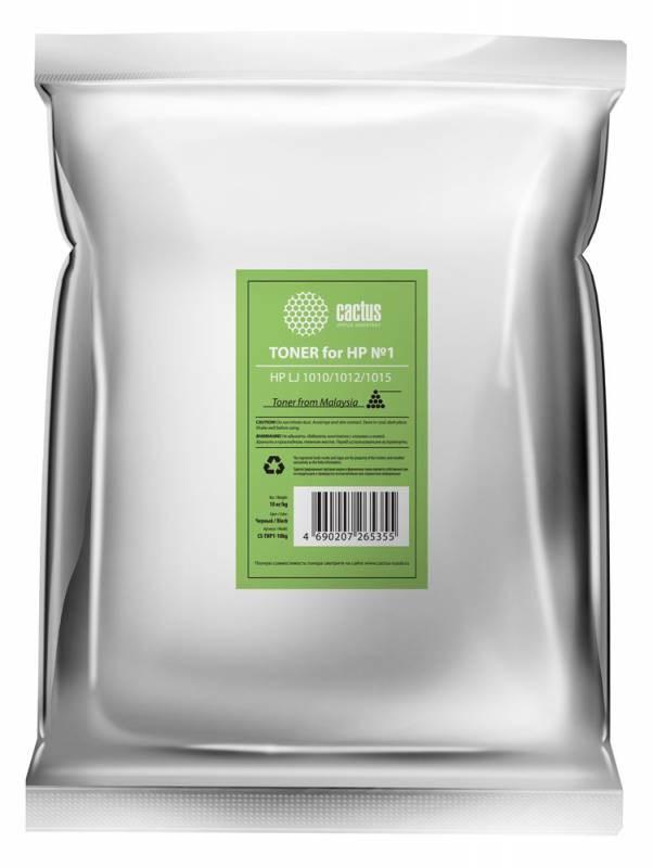 Тонер cactus cs-thp1-10kg черный пакет 10000гр.