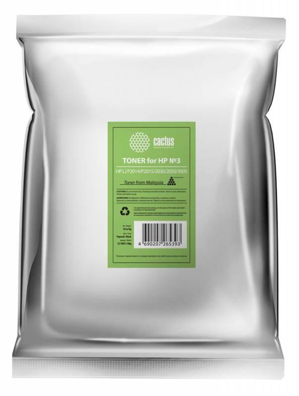 Тонер Cactus CS-THP3-10kg черный пакет 10000гр. для принтера HP LJ P2014, P2015, 2030, 2050, 3005Тонер<br>