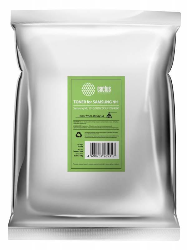Тонер Cactus CS-TSG1-10kg черный пакет 10000гр. для принтера Samsung ML 1610, 2010,  SCX 4100, 4200Тонер<br><br>
