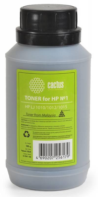 Тонер для принтера Cactus CS-THP1-100 черный (флакон 100гр) HP LJ 1010, 1012, 1015