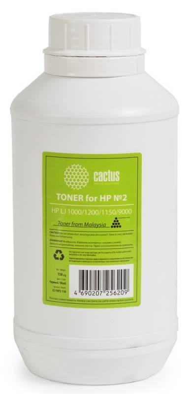 Тонер для принтера Cactus CS-THP2-150 черный (флакон 150гр) HP LJ 1000, 1200, 1150, 9000Тонер<br><br>