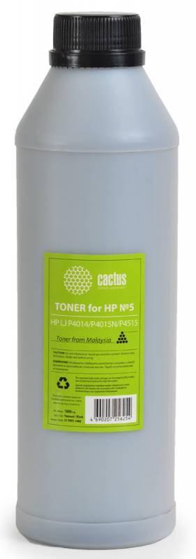 Тонер Cactus CS-THP5-1000 черный флакон 1000гр. для принтера HP LJ P4014, P4015N, P4515Тонер<br><br>