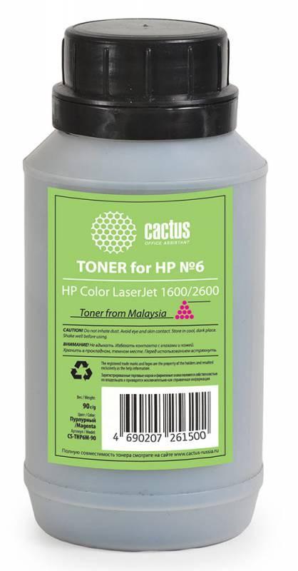 Тонер для принтера Cactus CS-THP6M-90 пурпурный (флакон 90 гр.) для картриджаHP Q6003A и его аналога Cactus CS-Q6003A фото