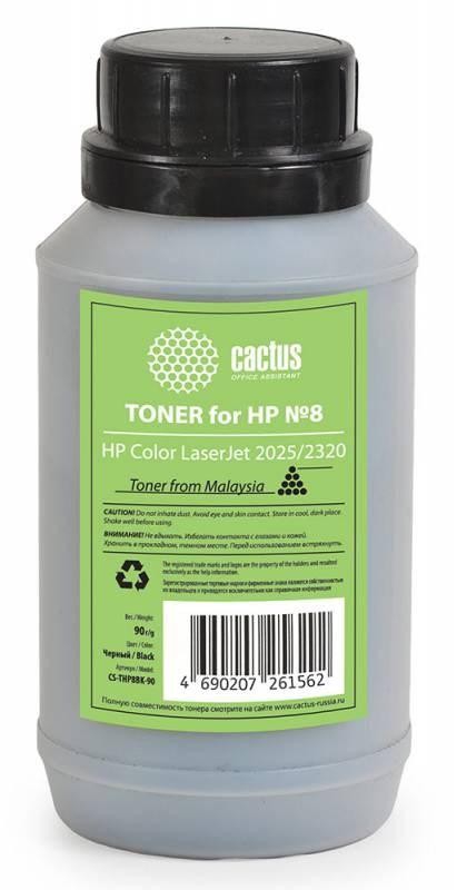 Тонер для принтера Cactus CS-THP8BK-90 черный (флакон 90гр) HP  Color LaserJet 2025, 2320Тонер<br>