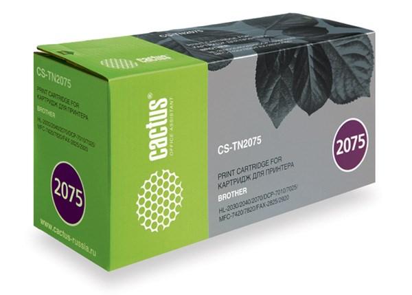 Лазерный картридж Cactus CS-TN2075 (TN-2075) черный для принтеров HL-2030R, HL-2040R, HL-2070NR, FAX-2920R,FAX-2825R, DCP-7010R, DCP-7025R, MFC-7420R, MFC-7820NR (2500 стр.)Лазерные картриджи<br>Лазерный тонер картридж Cactus CS-TN2075 (TN-2075) создан для использования в принтерах Brother HL-2030R, HL-2040R, HL-2070NR, FAX-2920R,&amp;nbsp;FAX-2825R, DCP-7010R, DCP-7025R, MFC-7420R, MFC-7820NR<br>&amp;nbsp;<br><br>Ресурс картриджа 2500 стр.<br>&amp;nbsp;<br><br>Гарантия 12 месяцев<br>