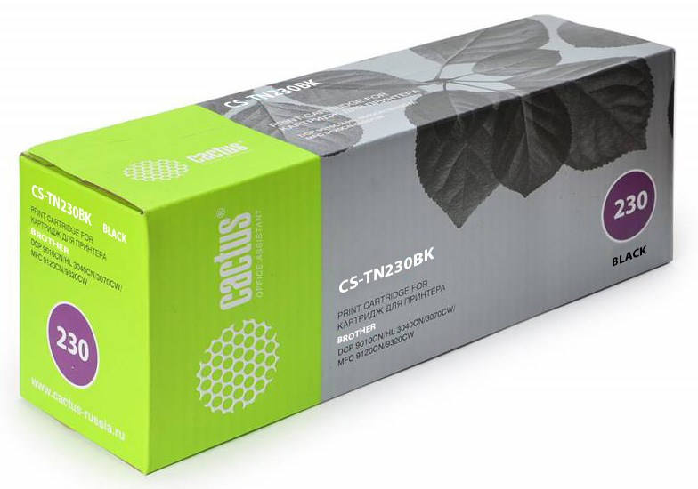 Лазерный картридж Cactus CS-TN230BK (TN-230BK) черный для принтеров HL-3040CN, HL-3070CW, DCP-9010CN, MFC-9120CN, MFC-9320CW (2200 стр.)Лазерные картриджи<br>Лазерный тонер картридж Cactus CS-TN230BK (TN-230BK) создан для использования в принтерах Brother HL-3040CN, HL-3070CW, DCP-9010CN, MFC-9120CN, MFC-9320CW<br>nbsp;<br><br>Ресурс картриджа 2200 стр.<br>nbsp;<br><br>Гарантия 12 месяцев